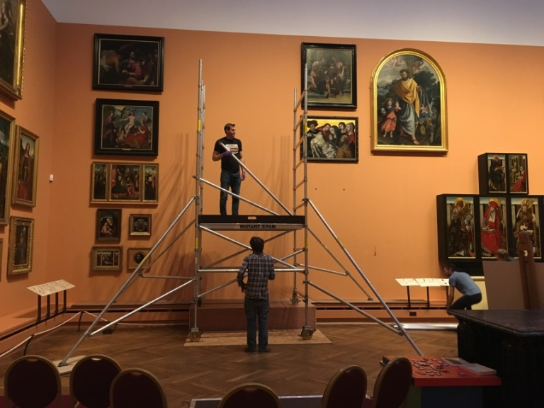 Taking Paintings Down