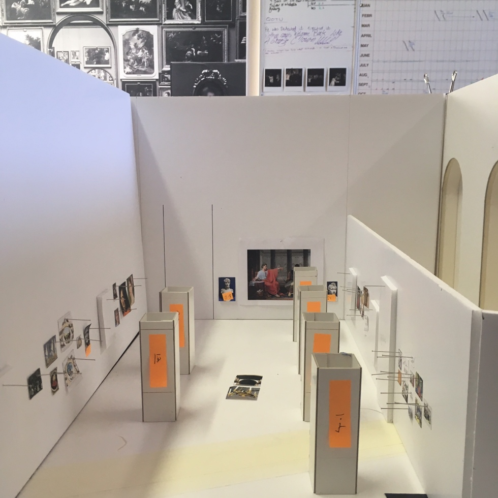 Original scale model plan of the exhibition