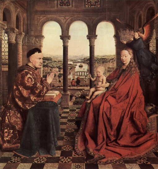 'Madonna with the Chancellor Rolin' by Jan van Eyck (©Bridgeman Images)