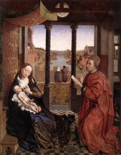 'St Luke Drawing the Virgin' by Rogier van der Weyden (©Bridgeman Images)