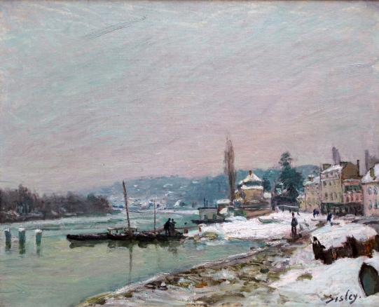 Alfred Sisley, Port-Marly under Snow, Private Collection