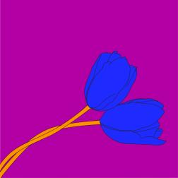 Michael Craig-Martin -Tulip2